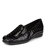 Footglove™ Crocodile Skin Print Loafers