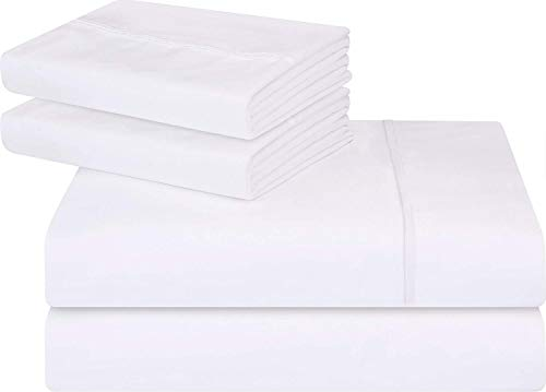 Utopia Bedding 4-Piece Full Bed Sheet Set Pack of 10 - Soft Brushed Microfiber Wrinkle Fade and Stain Resistant - White