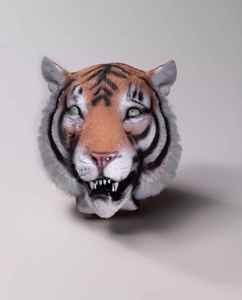 Deluxe Latex Animal Mask - Tiger