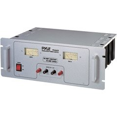 PYLE PSL642X 60 Amp Rack Mount Linear AC/DC Power Supply With Rolling Casters