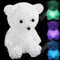 "Mini 4"" Cute Bear Style Color Changing Led Lamp Night Light Lamp Crystal Ball Decor"