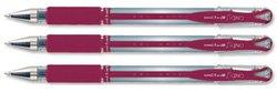 Uniball Rollerball - Paquete de 12 bolígrafos de tinta gel, rojo
