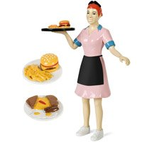 Accoutrements Waitress Action Figure from Accoutrements