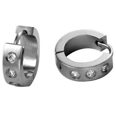 Cuffu Unisex 316 Surgical Stainless Steel Earring -Silver Stainless Steel / Orion Belt - Precious Luxury Earrings Last Forever, LOWEST Shipping Rate of $2.98