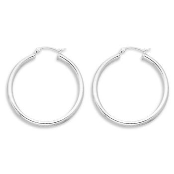 3mm x 35mm Hoop Earrings with Click