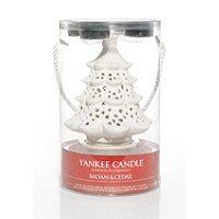 Yankee Candle Holiday Gift Set Christmas Tree Tea Light Holder with 4 Scented Tea Lights BALSAM & CEDAR