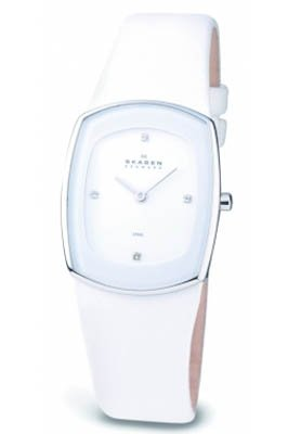 Skagen Denmark Womens Watch Fashion Basic in White #649SSLWW