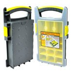 BOLTON TOOLS 8 1/2 inch 15 Bins Profeesional Organizer Carrier Storage Case - Tool box, Tool Case, Tool Chest