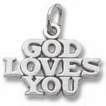 Rembrandt Charms God Loves You Charm - Gold Plated