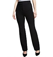 M&S Collection Straight Leg Ponte Trousers with Secret Support™