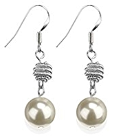 M&S Collection Pearl Effect Snail Twist Drop Earrings