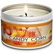 Premium Candy Corn Natural Soy Wax Candle Travel Tin 8 Ounces