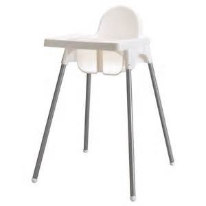 ikea-antilop-highchair-with-tray-safety-belt-white-silver-colour