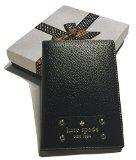 Kate Spade Wellesley Black Leather Passport Holder Case WLRU1236 with Gift Box