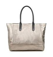 Autograph Leather Contrast Handle Shopper Bag