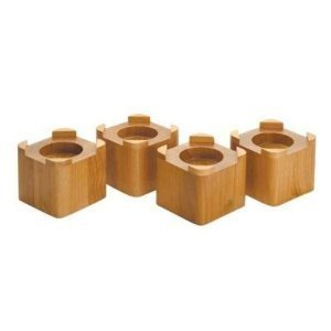 4 1 2 Inch By 4 1 2 Inch Wood Bed Risers Lifts Honey Oak
