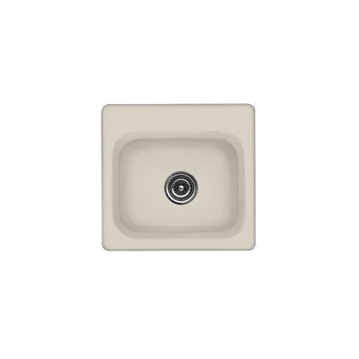 "Advantage Series 16.5"" X 15.5"" Warren Rectangular Self Rimming Prep Bar Sink Finish: Tea Green, Faucet Drillings: No Hole"