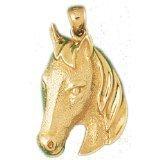 CleverEve 14K Yellow Gold Pendant Horse Head 7.5 Grams