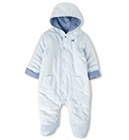 Hooded Velour Pramsuit