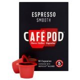 Cafe Pod Nespresso Compatible Smooth (Pack of 4, Total 40 Pods)