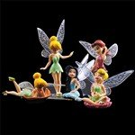 5-Pieces Disney Series Pretty Fairy with Wings Display Figure Toy Set Desktop Gift