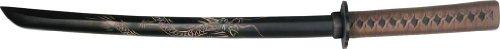 Bladesusa 1808D Samurai Wooden Training Sword 30-Inch Wooden Wakizashi