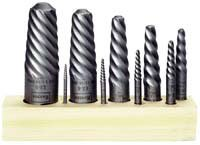 Irwin Tools 52490 Spiral Flute Screw Extractors, 9 Piece Set рубанок для сглаживания irwin 9 38x2in