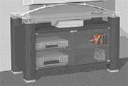 Cheap ELITE EL905 47-inch Wide TV Stand Audio Rack (EL905)