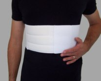 Male Rib Belt / Chest Support, Large, White