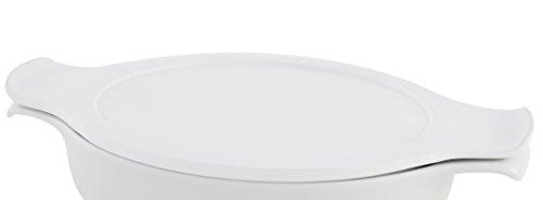 inductherm 49240000029357Couvercle en porcelaine Blanc 18cm