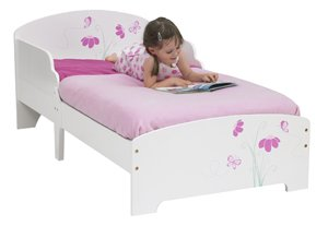 Butterflies & Flowers Toddler Bed with Mattress