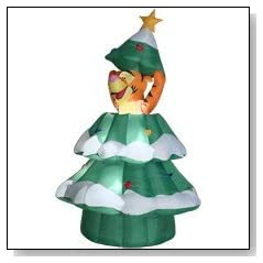 Tigger Christmas Tree Animated Airblown Inflatable Decoration