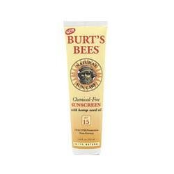 Chemical-Free Sunscreen SPF15 3.5oz cream by Burt's Bees