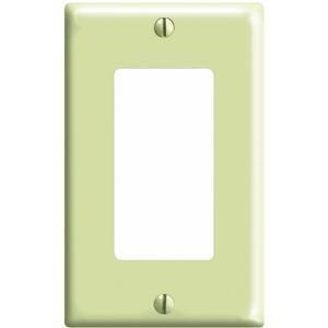 Leviton 80401-I 1-Gang Decora/Gfci Device Decora Wallplate, Standard Size, Thermoset, Device Mount, Ivory