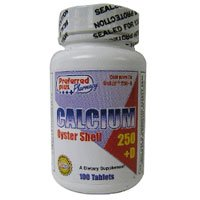 Oyster Shell Calcium 250 Mg Supplements With Vitamin D By Kpp - 100 Tablets