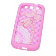 Sweet Pink Gift Design Detachable Phone Hard Back Cover Case for Samsung Galaxy S3 i9300
