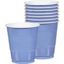 12 oz plst cup 20 ct-pstl blue - 1