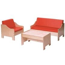 Chair Sofa & Coffee Table Set - Blue