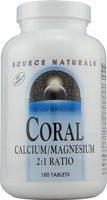 Source Naturals - Coral Calcium/Magnesium, 180 Tablets