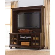 """Espresso Tv Stand with Hutch, for Tvs up to 50"""" Better Homes and Gardens Media Storage Entertainment Center"""