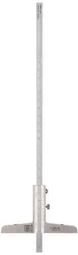 Brown & Sharpe TESA 00510143 Vernier Depth Gauge, Caliper Type, 0-250mm Range, 0.02mm Graduation, +/-0.03mm Accuracy, Flat Measuring Face (Brown And Sharpe Vernier Caliper compare prices)