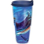 Tervis GH-I-24-UNBO-WRA Guy Harvey Boat Underwater Wrap Tumbler with Navy Lid, 24-Ounce