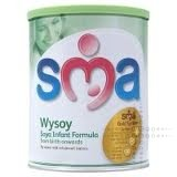 THREE PACKS of SMA Wysoy Baby Milk Powder Lactose Free 430gm