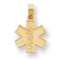 14k Medical Alert Symbol Pendant - JewelryWeb