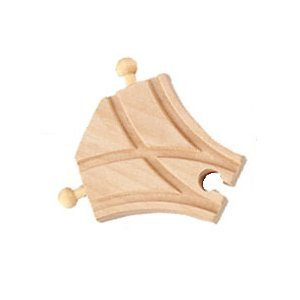 Short Wooden Train Track Curved M Switch Adapter Fits Thomas Train - 1