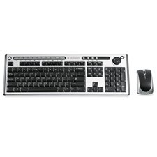 "Verbatim Corporation Products - Wireless Keyboard, w/ Mouse, 6-1/4""x18-1/4""x4/5"", BK/SR - Sold as 1 EA - Wireless Slim Keyboard features an integrated volume control wheel to allow easy volume control and 16 hot keys for Media Play, Internet browsing and PC functions. The Media Player functions include stop, play/pause, previous, next, volume mute. Internet browser functions are refresh, stop, back, forward, home, and My Favorites. PC functions include open mail client, hibernate/sleep, search,"