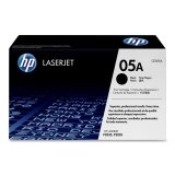 HP 05A Black Toner Cartridge - Black - Laser - 2300 Page - 1 Each 61dm 074 lux