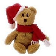 1 X Ty Jingle Beanies - 1997 Holiday Teddy Bear