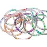 Rainbow Glitter Water Bracelets 12 Count