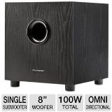 Great Deal! Pioneer SW-8MK2 Andrew Jones Designed 100-Watt Powered Subwoofer